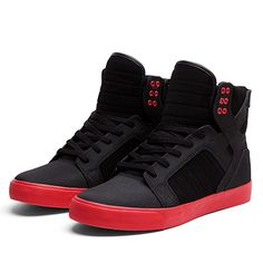 Supra Skytop | Grey / Red / Black