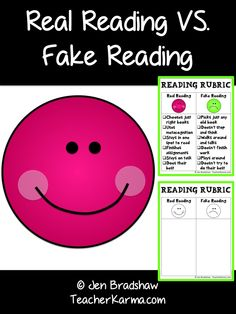 "FREE Metacognition and comprehension lesson:  Real reading vs. fake reading ~ Teachers:  You have got to get this if you kid are ""FAKING IT"" instead of really reading. #metacognition #comprehension"