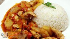 KÍNAI ÉDES-SAVANYÚ CSIRKE RECEPT ELKÉSZÍTÉSE VIDEÓVAL Recipe Search, Ketchup, Wok, Grains, Rice, Chicken, Meat, Vietnam, Restaurant