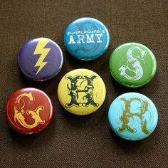 "1"" Harry Potter Pinback Buttons, set of 6 $5"