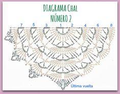 CHALES, CHALES / SHAWLS, SHAWLS | Crochet Shawl Diagram, Crochet Shawl Free, Crochet Shawls And Wraps, Crochet Chart, Crochet Lace, Crochet Stitches, Crochet Purses, Crochet Scarves, Crochet Clothes