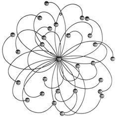 metal wall art atomic flower