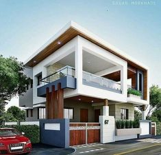 The interesting Modern Residential House Bungalow Exterior Arsagar Inside The Most Brilliant Bungalow Exterior Design image below, is section of … Bungalow House Design, House Front Design, Modern House Design, Modern Bungalow, Bungalow Exterior, Modern Exterior, Exterior Design, Exterior Colors, Modern Residential Architecture
