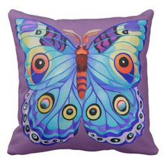 """""""Just a butterfly"""" Throw Pillow - diy cyo personalize design idea new special custom"""