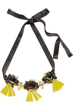 Marni | Flash resin and crystal necklace | NET-A-PORTER.COM