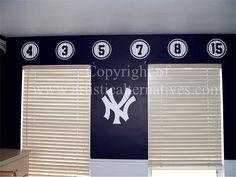 Yankees Mural-Sports Mural-Sports Theme Mural-Yankees Theme Mural-Boys Mural-Kids Mural-New Jersey Mural-Manalapan NJ Mural-Artistic Alternatives Decorative Painting NJ