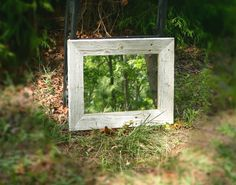 rustic mirror reclaimed barn wood by on etsy