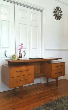 Mid Century Teak G Plan Floating Desk Vintage Retro London SE14 in Home, Furniture & DIY, Furniture, Desks & Computer Furniture…