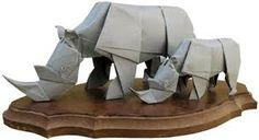 Image result for origami rhino