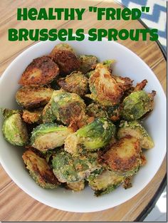 Healthy Fried Brussels Sprouts - use nutritional yeast instead of parmesan
