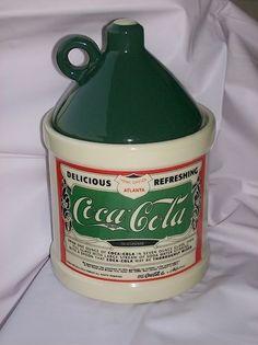 COCA COLA Crock Jug Cookie jar RARE Hard to find by rita