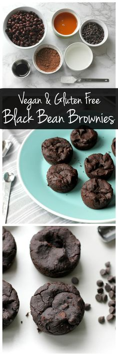 These black bean brownie bites are vegan and gluten free. They're low in sugar but high in protein and fiber. They're an easy, healthy dessert!