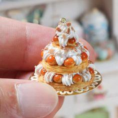 https://flic.kr/p/wJis8D   Triple-tiered St Honoré pastry centrepiece www.parisminiatures.etsy.com