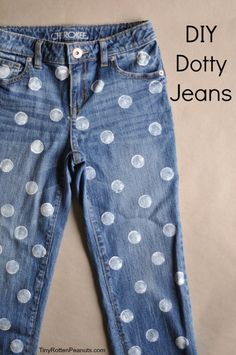 DIY Projects for Teenagers - Dotty Jeans - Cool Teen Crafts Ideas for Bedroom Decor, Gifts, Clothes and Fun Room Organization. Summer and Awesome School Stuff http://diyjoy.com/cool-diy-projects-for-teenagers