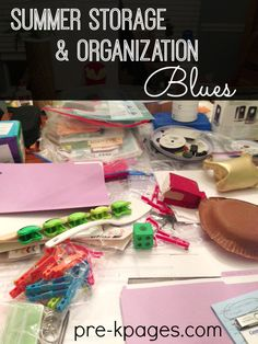 Teacher Summer Storage and Organization Blues (+ fix)