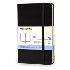 The Moleskine Pocket Sketchbook is made with top quality heavy paper and is perfect for on the go drawings, sketches and tempera colours. Every Moleskine product is thread bound and has a cardboard bo