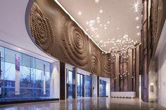 Huafa & City Hub Sales Center Office by Shenzhen Rongor Design Wuhan  China