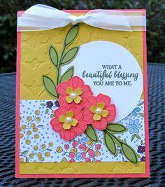 Krystal's Cards: Stampin' Up! Rose Wonder Beautiful Blessing #stampinup #krystals_cards #rosewonder
