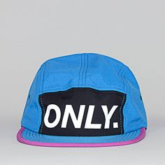 Caps ONLY. Logo 5 Panel Bleu