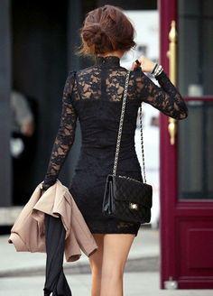 Cute black lace dress