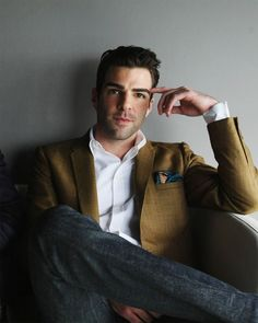 Zachary Quinto - it's rare that he looks comfortable in photos, but this is a great shot!