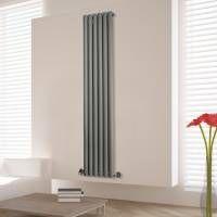 Stylish Silver Designer Vertical Radiator · Vertical RadiatorsDesigner  RadiatorExtension IdeasSitting ...