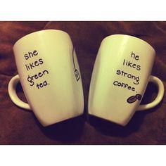 DIY-sharpie-coffee-mugs...now that I have a Keurig I need cute mugs! :)