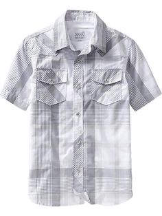 Boys Short-Sleeved Western Shirts Product Image