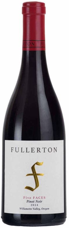 Fullerton Five Faces Pinot Noir Willamette Valley 2014 Black Cherry Fruit, Wine Tasting Notes, Willamette Valley, Wine Reviews, Pinot Noir, Earthy, Wines, Blueberry, Herbalism