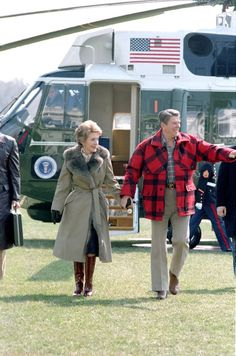 President and Mrs. Reagan returning from Camp David on March 9, 1984