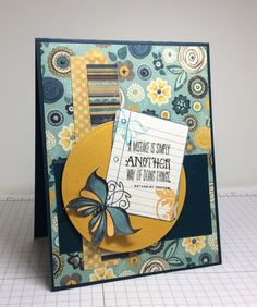 Handmade card by Laura Fredrickson featuring the Blue Skies stamp set from Verve. #vervestamps