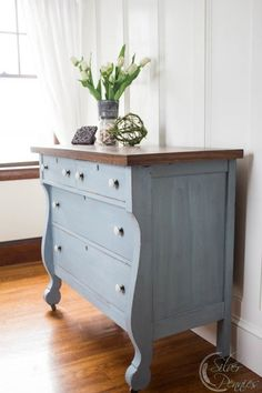 Meet Lila an Empire Dresser in Bergere Milk Paint