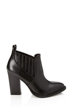 Black Pleated Faux Leather Booties | FOREVER21 - 2000066800 $35 LOVE IT!