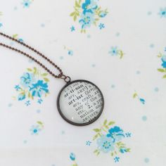 New to roseylittlethings on Etsy: Artist word necklace artist pendant one of a kind vintage dictionary word necklace word lover necklace artist gift (20.00 USD)