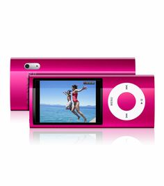 Rockin' out to the playlist on the Pink iPod Nano