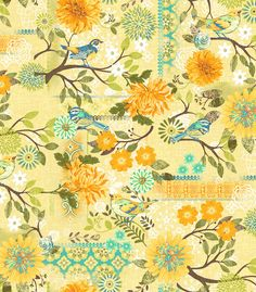 NEW! Blue Bird by Jennifer Brinley for Studio e #fabric #quilting #sewing