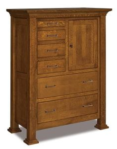 Amish Empire Gentleman's Chest of Drawers Unique and stylish storage for bedroom, the Empire is full of space. This chest is solid wood and built in Amish country. Custom made in choice of wood and stain. #gentleman'schest #bedroomchests