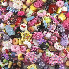 Bargain Mix Lucite Assorted Cake Dessert Ice Cream Lolly Candy Charm Flatback | eBay