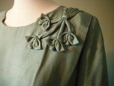 Vintage Mad Men 1960s Dusty Green Silk Wiggle Dress by Herbert | Etsy