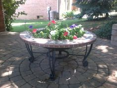Fire Pit Turned Planter