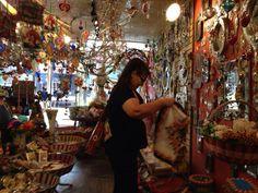 shopping in a funky retro store in Williamsburg Brooklyn