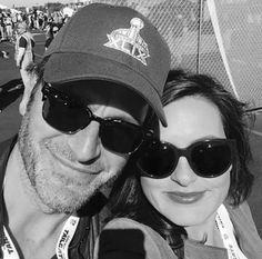 Peter and Mariska - SB XLIX; b&w pic, shades