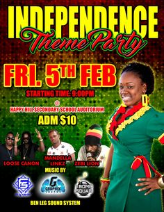 Independence Theme Party @ Happy Hill Secondary School Auditorium Feb 5th, 2016