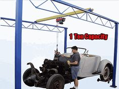 8 Foot Span 1 Ton Capacity Overhead Bridge Crane System