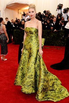 Ivanka Trump in Oscar de la Renta.  Met Gala 2014.