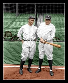 Babe Ruth & Lou Gehrig - 1927 Yankees Colorized Photo - $4.95