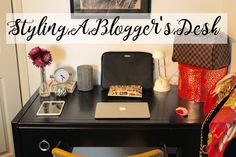 Styling a blogger's desk