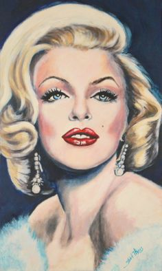 Portrait by Shirl Theis of Marilyn Marilyn Monroe Stencil, Marilyn Monroe Drawing, Marilyn Monroe Wallpaper, Marilyn Monroe And Audrey Hepburn, Marilyn Monroe Photos, Pin Up Retro, Caricatures, Old Hollywood Stars, Soul Art