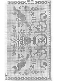 Filet Crochet, Views Album, Yandex Disk, Beautiful, Journals, Punto De Cruz, Dots, Blue Prints