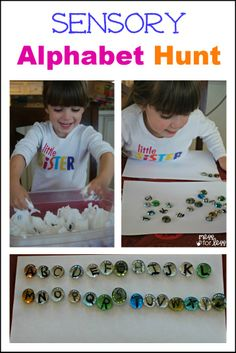 Sensory Alphabet Hunt -  a fun way for kids to work on their letters and get messy!